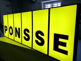 Производство лайтбокса - светового короба для PONSSE, г. Томск