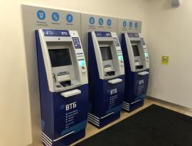 Брендирование  банкоматов и прилегающего пространства плёнкой для ВТБ, Зонд реклама, г. Томск