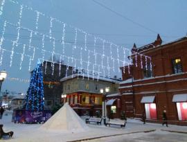 Томск. Переулок Плеханова. Новогоднее оформление.