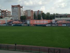 Большое рекламное поле на стадионе Труд г. Томск
