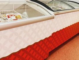 Печать на плёнке и накатка изображений на холодильные лари, брендирование г. Томск